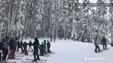 Squaw Valley resort reaches a total of 100 inches of snow