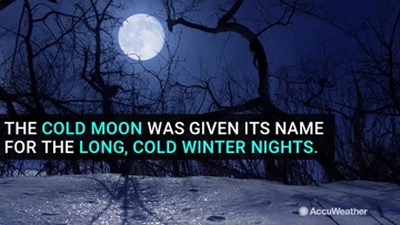 Cold Moon on Dec. 12 is last full moon of decade