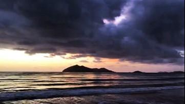 Sunrise looks stunning from the beach