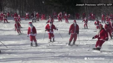 With all of these Santas, checking the list twice will be easy