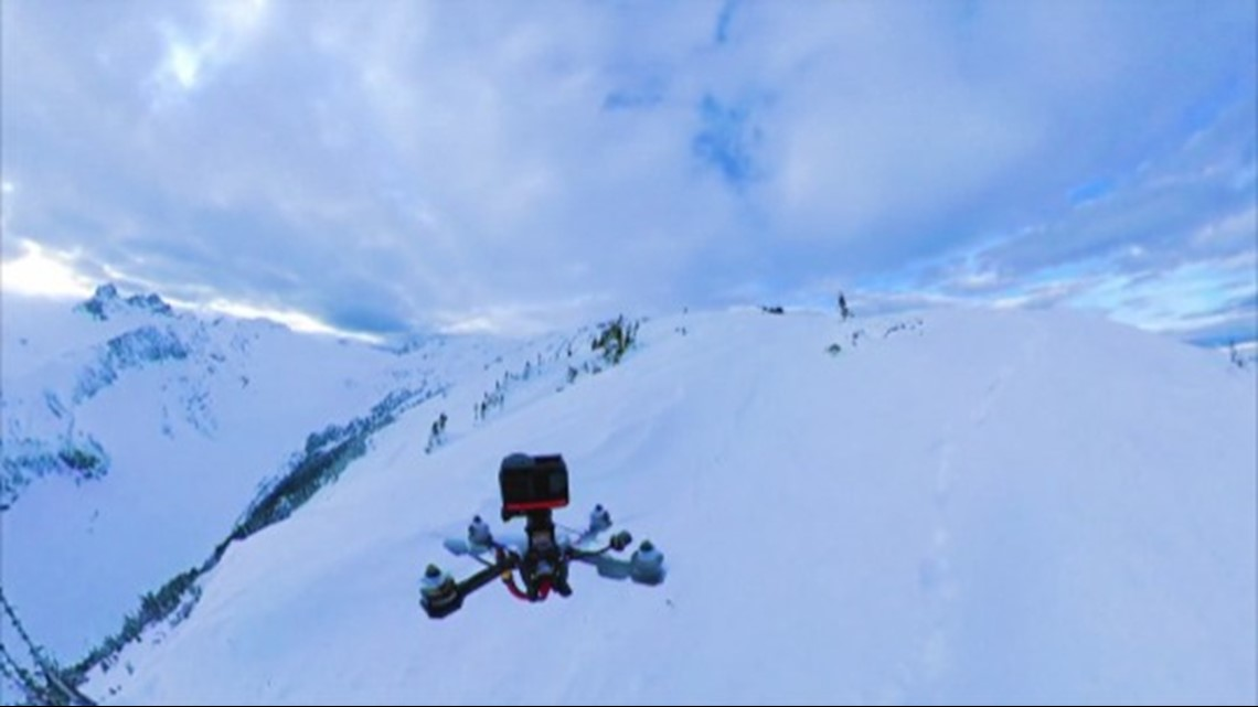 This Incredible Drone Footage Captures Snowboarding Through The Canadian Mountains