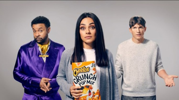'It wasn't me': Cheetos Super Bowl ad features Kutcher, Kunis and Shaggy
