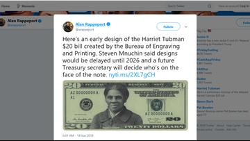 NYT obtains Harriet Tubman $20 bill design ahead of 2028 release