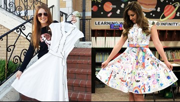 A white dress to a work of art: This teacher is bringing creativity to classrooms around the world