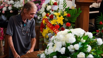 Strangers come from miles away to mourn El Paso shooting victim