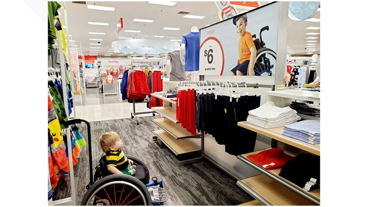 Boy in wheelchair Target ad