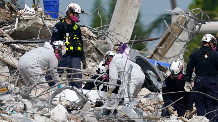 Texas A&M engineering professor working with first responders at Surfside condo collapse site