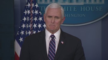 Pence says he's attending Easter Sunday church services from living room