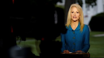 Trump says he's not firing Kellyanne Conway; implies freedom of speech