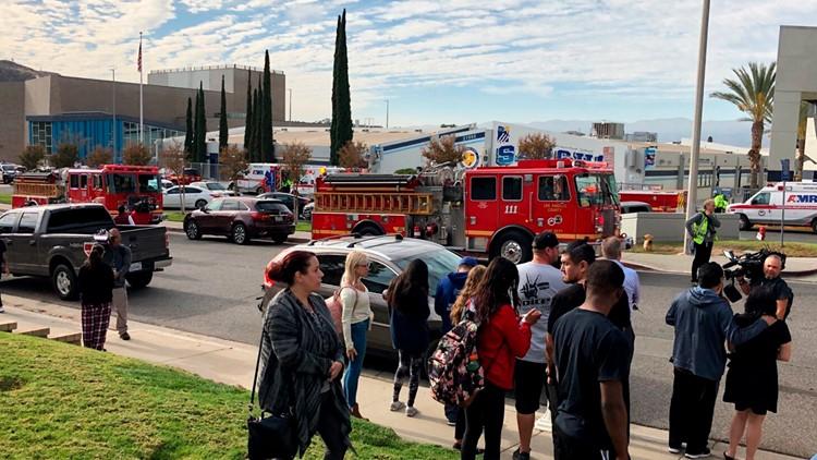 California High School Shooting scene waiting