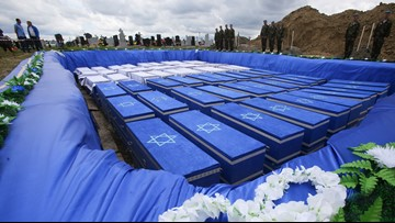 Remains of 1,200 Holocaust victims laid to rest in Belarus