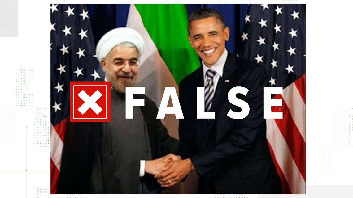 VERIFY: Congressman tweets fake photo of Obama with Iranian President