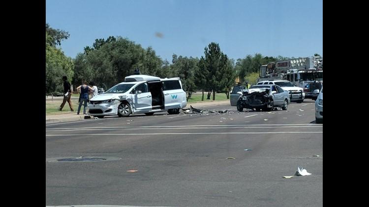 Waymo self-driving SUV involved in crash in Chandler, Arizona