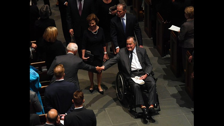 President George HW Bush discharged from hospital