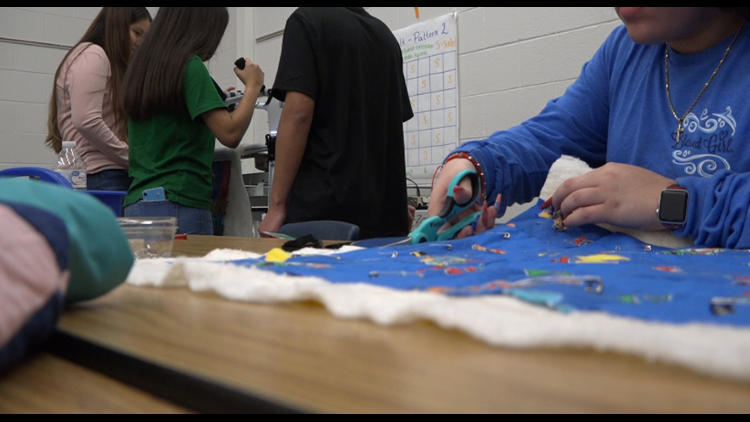 Quilting club in Bryan ISD provides students with tools to create and give to the community