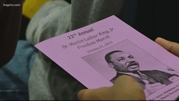 Martin Luther King, Jr. Day celebration in Bryan