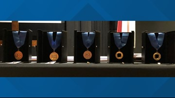 Award ceremony honors former Pres. Bush, Santa Fe school mass shooting responders in College Station
