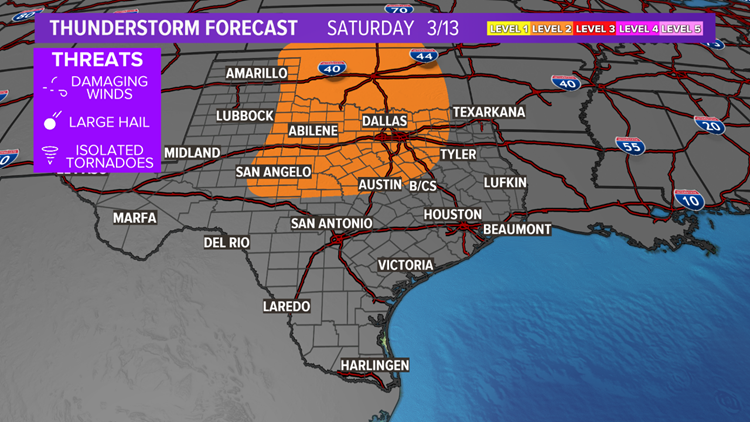 Multiple rounds of severe weather to impact Texas over the coming days