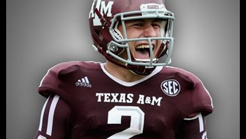 Texas A&M police investigating theft of Johnny Manziel football uniform from Hall of Champions
