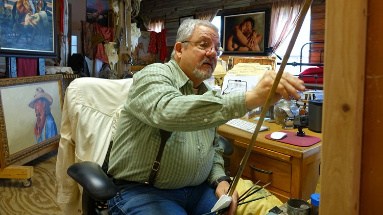 'What little boy doesn't want to paint a cowboy?': Somerville-based painter documents cowboys and the cattle they work