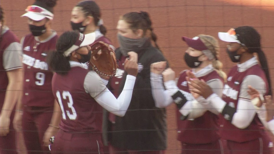 Lee Hits 3 Home Runs as the Aggies Shut Out UCA in Season Opener