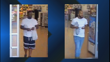 Do you recognize these persons of interest in a Bryan credit card theft?