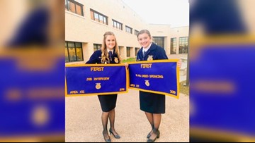 Local High School FFA chapter members place at state competition