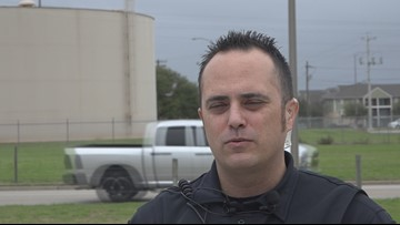 Officer Tristen Lopez talks about the search for Jamarious Davis in Bryan