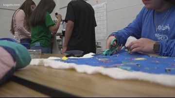 Quilting club in Bryan ISD provides students with tools to create and give to the community *FULL*