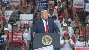 President Trump talks Texas jobs, 'Crazy Nancy' and his generosity after Hurricane Harvey