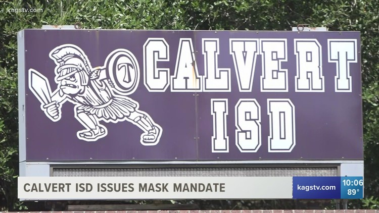 Calvert ISD implements its own mask mandate