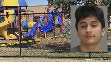Bonham Elementary School's playground damaged by suspected drunk driver