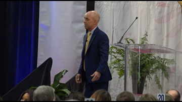 Olympic champion, Scott Hamilton speaks at Surviving and Thriving Luncheon