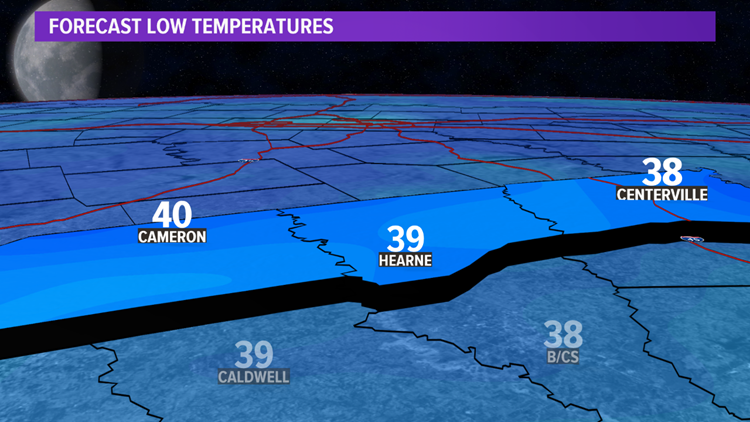 Tuesday morning temperatures
