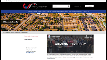 City of College Station to hold Citizens University