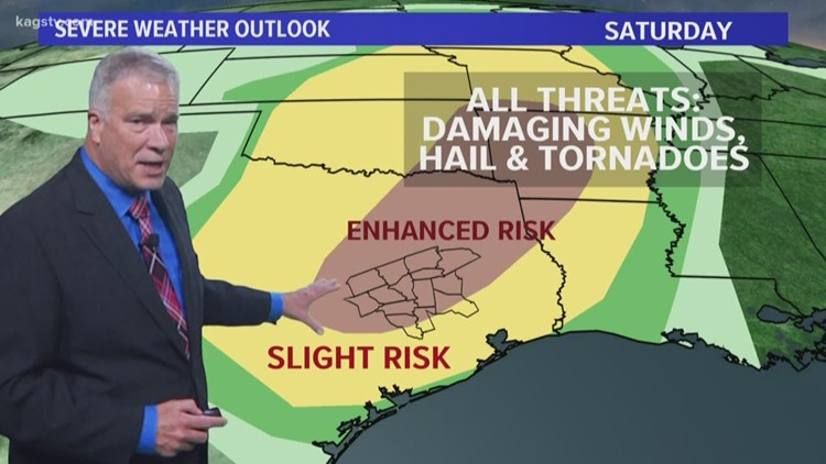 Rain possibilities continue. Tornado Watch expires for Brazos Valley.