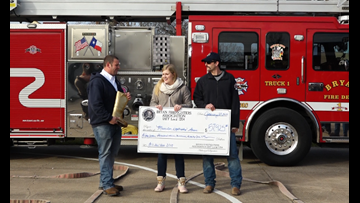 """Bryan firefighters and city council members take on """"challenges"""" for MDA"""