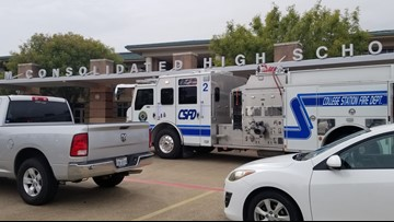 UPDATE: Air conditioning motor caused smoke problem at A&M Consolidated High School, said administrators