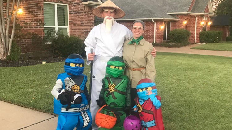 Doctors Covington with their children on Halloween