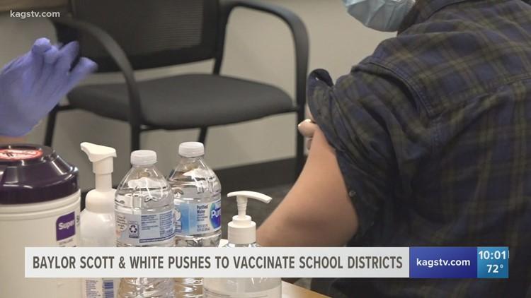 Baylor Scott & White pushing to vaccinate Bryan/College Station educators