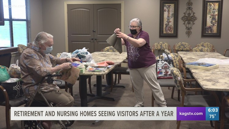 Retirement and nursing homes are seeing visitors again after a year