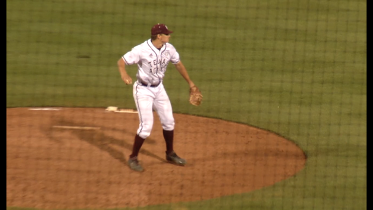 Texas A&M relief pitcher Nolan Hoffman and second baseman Michael Helman were named to the American Baseball Coaches Association/Rawlings All-Midwest Team the ABCA announced Wednesday afternoon. Hoffman was selected to the All-Midwest Region First Team and Helman was named to the Second Team.