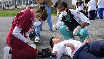 Texas A&M simulates disaster to train students in emergency response
