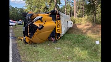 UPDATE: Huntsville ISD School Bus Overturned This Afternoon