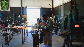 'This is what I was meant to do': College Station craftsman practices ancient art of bladesmithing