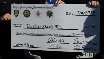 Local law enforcement agencies donate to childhood cancer fund