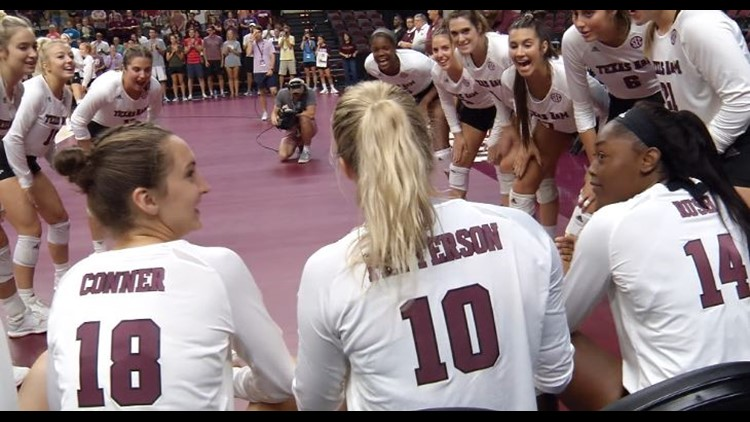 A&M Volleyball falls to Wisconsin in Sweet 16