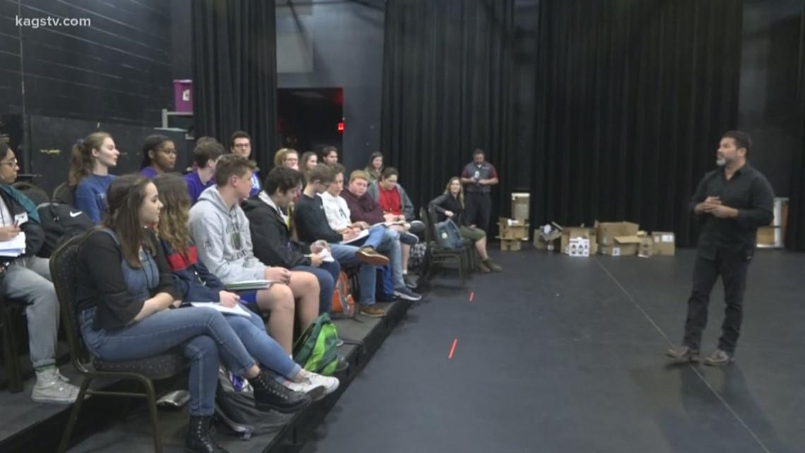 Netflix actor Sal Velez Jr. visits Bryan high School