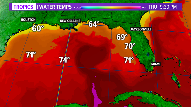 Gulf of Mexico water temperatures to have big impacts on severe thunderstorms this spring
