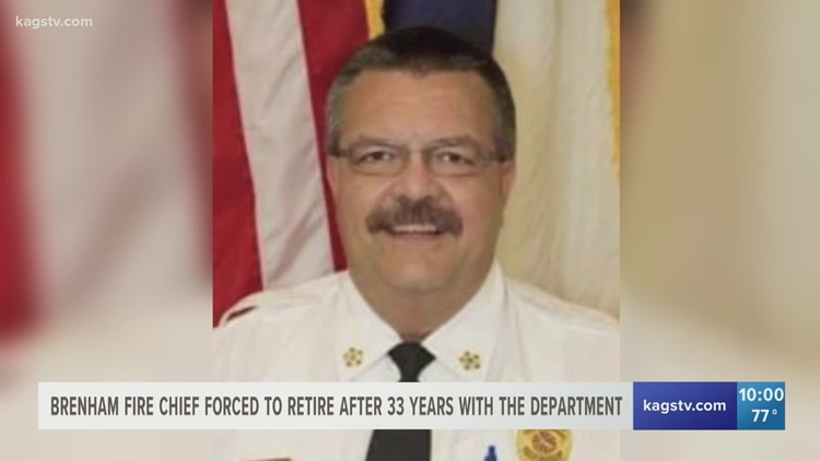 Brenham fire chief forced to retire after 33 years with the department